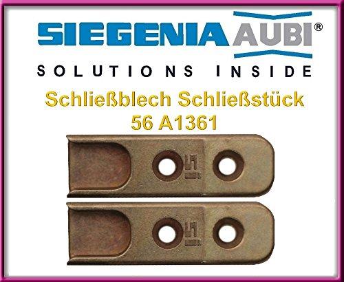 2 X SI Siegenia Schließblech Schließstück 56 A1361 / Streichblech / Fensterschloss / Schliessblech / Upvc Stürmer!!! 2 Stücke!!!