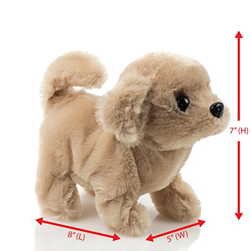 Toysery Puppy Plush Dog Toy for Kids - Puppy Toy,Walks, Barks - Battery Operated (Brown)