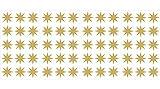 WallPops DWPK1852 Stars Wall Decals, Gold