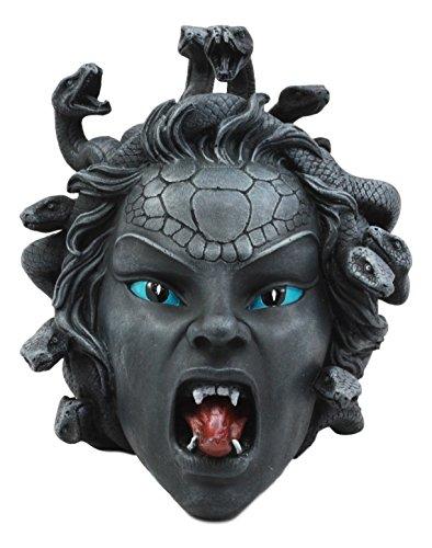 Ebros Greek Mythology Gorgon's Curse Severed Medusa Head Statue 6.25' Tall Stone Gaze Snake Haired Demon Figurine