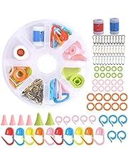 Kit de Herramientas para Tejer 88 Piezas Kit de Accesorios para Tejer con Marcadores Puntada Hacer Punto Ganchillo Bloqueo Juego de Herramientas Básicas para Costura Principiante