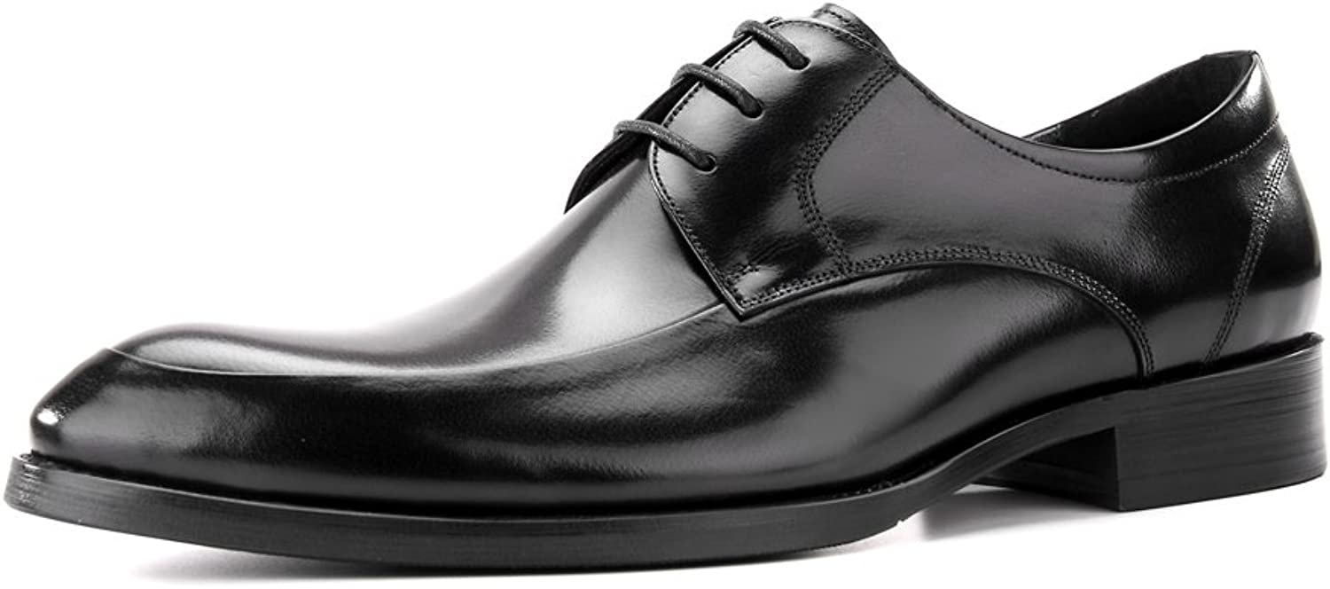 Men's Handmade Genuine Leather Dress Oxfords shoes for Wedding Party Black