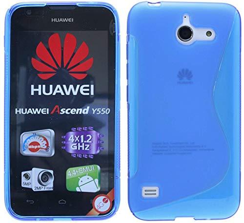 ENERGMiX S-Line TPU SchutzHülle kompatibel mit Huawei Ascend Y550 Silikon Hülle in Blau