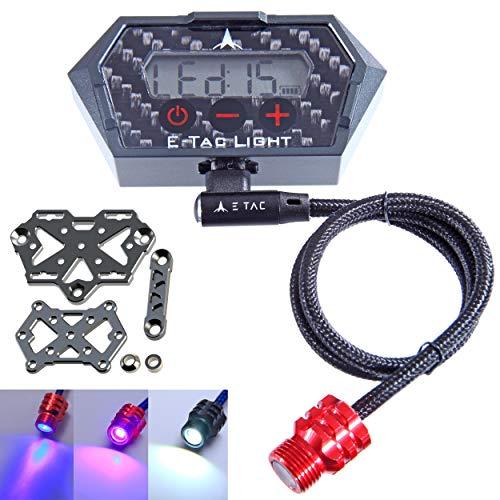 E-Tac Light Compound Bow Sight Light 15 Level Rechargeable Li-ion BT Sensor Auto On/Off (Blue (Focused) LED)