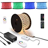 70Ft Super Long Run Waterproof 24V RGB LED Light Strip, Music SYNC WiFi App RF Touch Controller Works with Alexa, Premier Quality LED Rope Lights for Landscape & Home Theater,Crown Molding Backlight