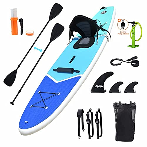 Zupapa Inflatable 10FT Stand Up Paddle Board with Seat and Non-Slip Deck,...