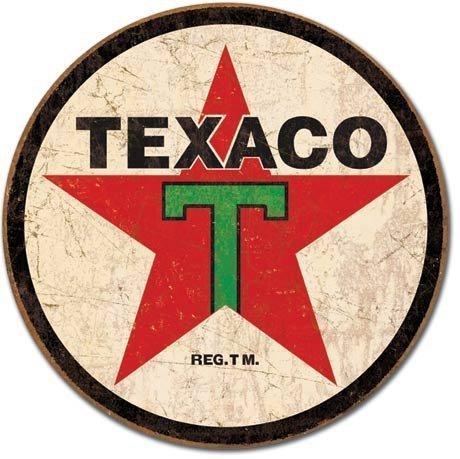 Texaco 1936 Rond Metal Sign logo (de)