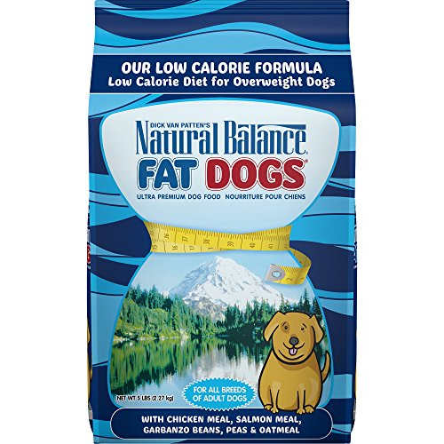 Natural Balance Fat Dogs Low Calorie Dry Dog Food, Chicken Meal, Salmon Meal, Garbanzo Beans, Peas & Oatmeal, 5 Pounds