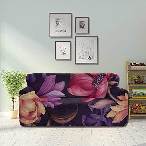 JIUCHUAN All-Inclusive-Sofabezug Waschbares 3-Sitzer-Bezugsbezug Sofa 190-230 cm...