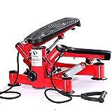 LDDLDG Stepper Mini Stepper máquina de entrenamiento piernas brazos muslos tóneres máquina de tonificación para entrenamiento, fitness, escaleras, color rojo