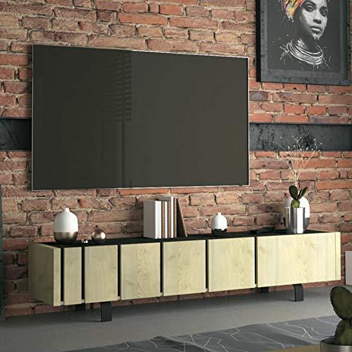 TV-meubilair, industrieel, kleur hout en beton-effect, Kara