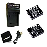 EDOGAWA FUJIFILM 富士フィルム NP-70 互換バッテリー 2個 + USB充電器セット (2BAT+USBJDK)