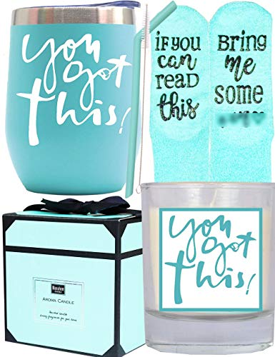 Encouragement Inspirational Motivational Gifts for Women, Congratulations Gifts for New Mom, Graduation Gifts for Her, New Job Gift for Coworker, You Got This Tumbler Travel Mug Cup Candle