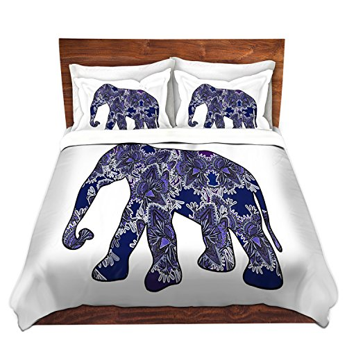 DiaNoche Designs Susie Kunzelman Elephant 5 Brushed Twill Home Decor Bedding Cover, 3 Queen/ Full Duvet Only 88' x 88'