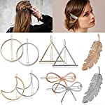 Beauty Shopping Hair Clip Fashion Various Shape Hair Barrettes Creative Geometric Shape Hollow Barrettes