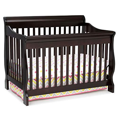 Delta Children Canton 4-in-1 Convertible Baby Crib, Dark Chocolate