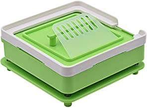 100 Holes Capsule Holder Plate, Capsule Filler Machine Tray,Manual Powder Filling Machine for Size 00 Pill Maker,(Green)