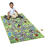 Kids Carpet Extra Large 80' x 40' Playmat City Life - Learn & Have Fun Safe! Children's Educational, Road Traffic System, Multi Color, Play Mat Rug Great for Playing with Cars, Bedroom Playroom, Area