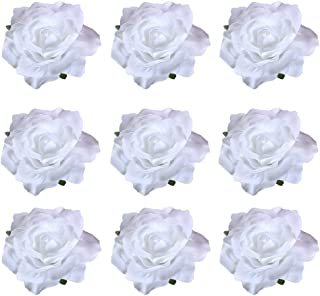 inSowni 16/9/4 Pack Rose Flower Hair Clips Brooch Pins Accessories Barrettes for Women Girls Bride (9PCS S4)
