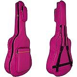 MINGZE 41' Funda para guitarra, bolsas de guitarra, bandolera ajustable a prueba de agua, variedad de colores (Rojo)