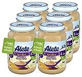 Alete Bio-Gläschen Abendbrei Getreidebrei Banane-Kakao, Babynahrung in Bio-Qualität, ohne Palmöl & Zuckerzusatz, ab dem 8. Monat, 6er Pack (6 x 190 g) 84070