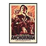 FJPDLAKE Anchorman Movie Poster and Prints Wall Art Canvas Painting Canvas Prints for Home Wall Decor Gift -20X28 Inch No Frame 1 PCS