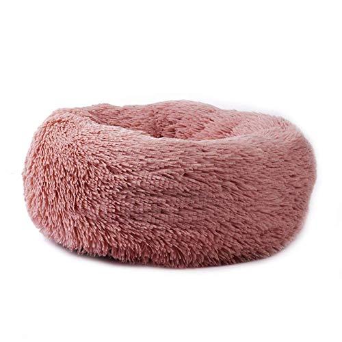 Watkings - Cama para mascotas, con forma redondeada, en felpa cálida, ideal para cachorros, perros pequeños y gatos, textura extrasuave