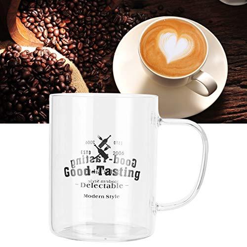 frenma Vaso Transparente, Vaso de Leche, Utensilios para Beber con Mango para café con Leche, Capuchino, café para café, té, Batidos, Cerveza