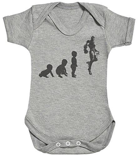 Baby Evolution to A Iron Man Body bébé - Gilet bébé - Body bébé Ensemble-Cadeau - Naissance Gris