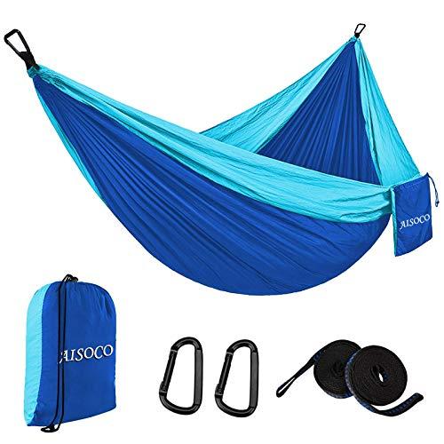 AISOCO Amaca ultraleggera per esterni, portata 300 kg, da viaggio, traspirante, da campeggio, portatile, con borsa per il trasporto, per interni, giardino, spiaggia (300 x 200 cm)