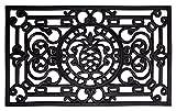 andiamo Gummifußmatte Fußmatte Türmatte Indoor/Outdoor Gusseisen-Look Bodenmatte Fußabtreter andiamo - rutschhemmend pflegeleicht strapazierfähig - 45 x 75 schwarz eckig