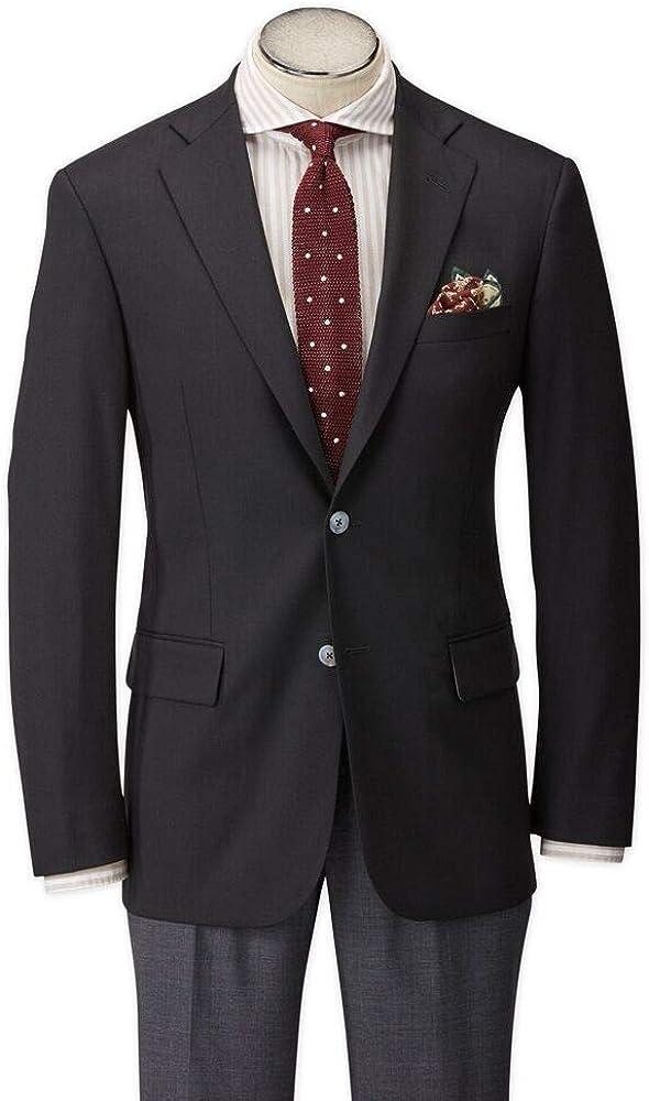 Hardwick Modern Fit Black H-Tech Super 110'S Wrinkle Resistant Wool Blazer