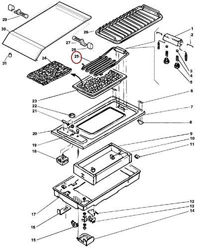 RESISTANCE BARBECUE 230V. 2400W POUR TABLE DE CUISSON ARISTON - C00045359