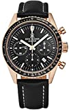 Revue Thommen Men's 17000.6567 'Aviator' Black Dial Rose-Tone Chronograph Automatic Watch