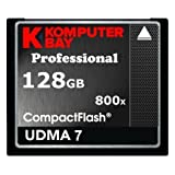 KOMPUTERBAY 128GB Professional COMPACT FLASH CARD CF 800X WRITE 75MB/s READ 120MB/s Extreme Speed UDMA 7 RAW 128 GB by KOMPUTERBAY [並行輸入品]