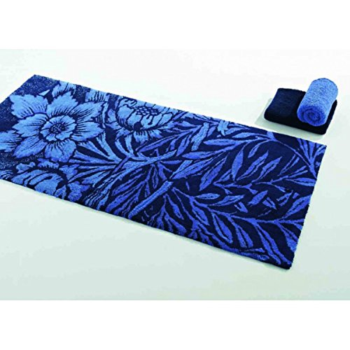 Abbys & Habidecor.- Tappeto da bagno Blue 70 x 140 cm