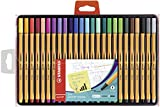 Fineliner - STABILO point 88 - 25er Pack - mit 25 verschiedenen Farben