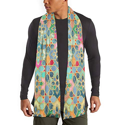 Panal de abeja cubos bohemio gráficos mujer hombre bufandas grandes suave moda chales formales envoltura invierno cálido bufanda larga