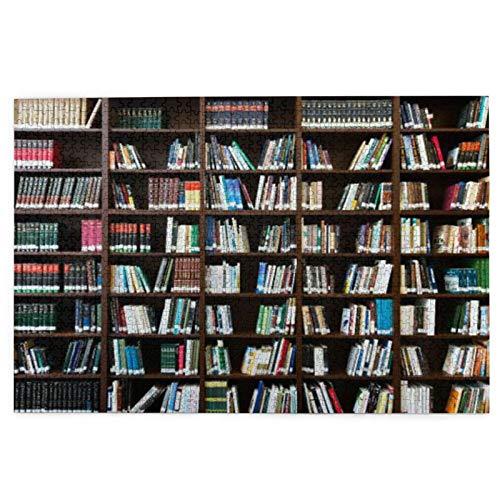 1000 piezas desafiantes rompecabezas vintage realista libro estante leído libro tema gusano como juego de regalo para cumpleaños rompecabezas de madera
