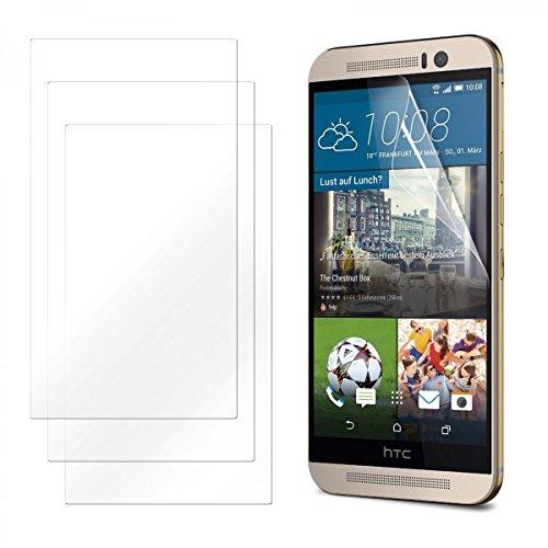 eFabrik 3 x Bildschirm Schutzfolie für HTC One M9 & HTC One M9 Prime Camera Edition Folie Zubehör mit Schutz vor Kratzer & Dreck, Bildschirmschutzfolie Handy Zubehör Klar transparent