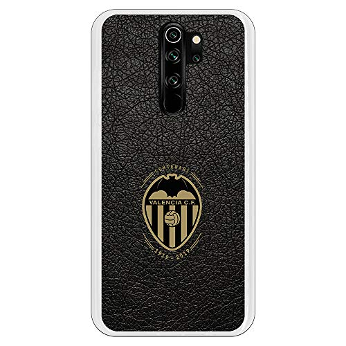 Funda para Xiaomi Redmi Note 8 Pro Oficial del Valencia CF Valencia Centenario Cuero para Proteger tu móvil. Carcasa para Xiaomi de Silicona Flexible con Licencia Oficial del Valencia CF.