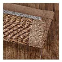 無毒で環境に優しい竹のフロアマット スクエア竹の床の滑り止め通気性大きいカーペット家のリビングルームの夏のクールなパッド BUYT (Color : B, Size : 60x200cm)