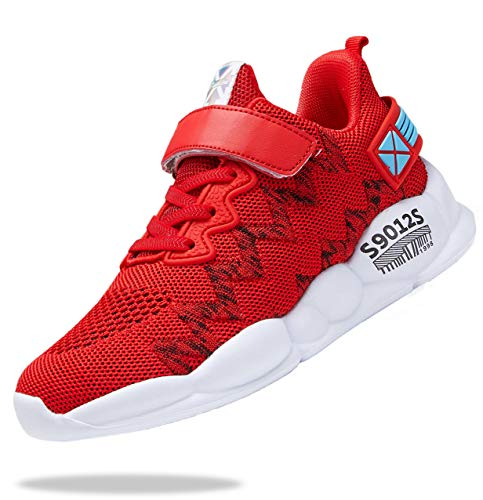 Sanrito Red Sneakers for Girls Kids Running Shoes Boys...