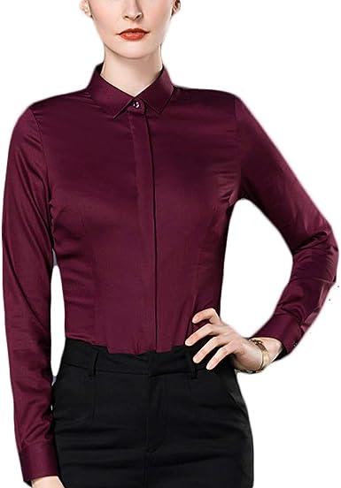Fiyomet Camisas para Mujer Camisa de Fibra de Bambú Blusa ...