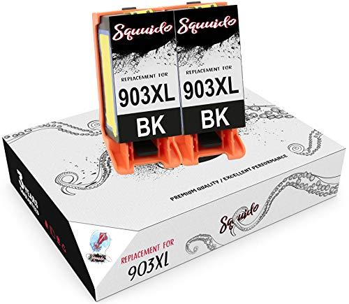 Squuido 2 Negro Cartuchos de Tinta T6M15AE 903 XL 903XL compatibles para HP OfficeJet Pro 6950 6960 6970 6975 | Alto Rendimiento