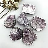 PINGPUNG Cristal áspero 1 UNID Natural Purple LEPIDOLITE Pieza Cristal Cristal Raro RÁPIDO MINERALES MINERALES GEM ESPACIONAL CANACIÓN HOGAR Decore Piedras para la colección (Size : 30 50grams)