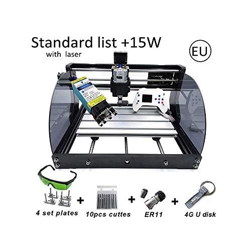Changli DIY CNC Laser Graviermaschine, Arbeitsgröße Metall Carving CNC Gravur Lasermarkiermaschine, 15 watt Laserschneidmaschine
