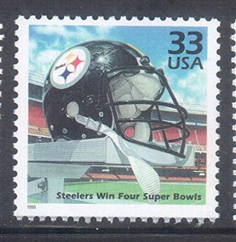 FGNDGEQN Colección de Sellos Estados Unidos 1999 Millennium / Pittsburgh Steel Team Football Wins Stamps Super Bowl