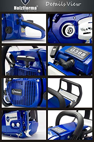 Holzfforma 72cc Blue Thunder G388 Gasoline Chain Saw Power Head Only Without Guide Bar and Saw Chain All Parts are Compatible with 038 038 AV 038 MS380 MS381 Magnum Chainsaw