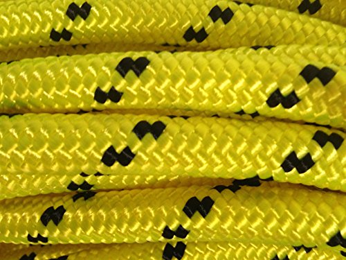 1/2 Inch by 200 Feet Double Braid Polyester Rope Yellow